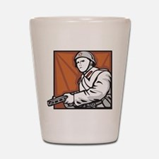 Soviet Soldier Shot Glass