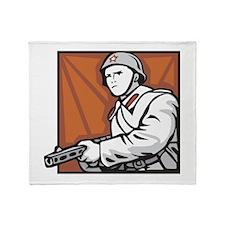 Soviet Soldier Throw Blanket