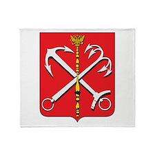 St. Petersburg Coat Of Arms Throw Blanket