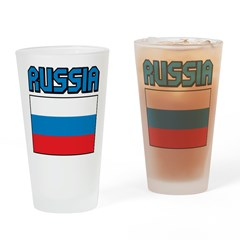 Russia Flag Pint Glass