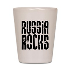 Russia Rocks Shot Glass