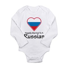 Happily Married Russian Long Sleeve Infant Bodysui