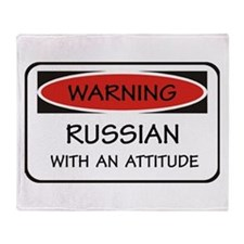 Russian With An Attitude Throw Blanket