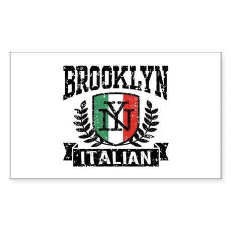 Brooklyn NY Italian Sticker (Rectangle)