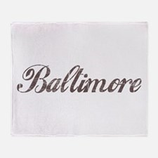 Vintage Baltimore Throw Blanket