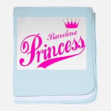 Barcelona Princess baby blanket