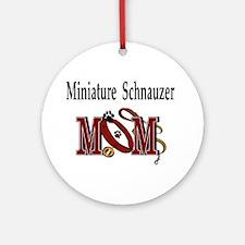 Miniature Schnauzer Ornament (Round)