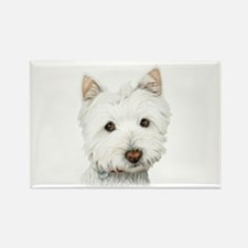Westie Dog Rectangle Magnet (100 pack)