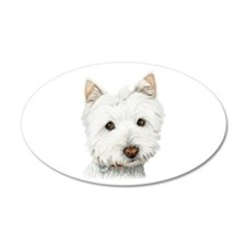Westie Dog 22x14 Oval Wall Peel