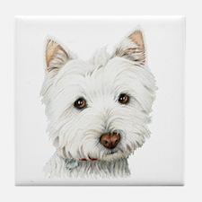 Westie Dog Tile Coaster