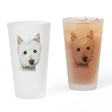 Westie Dog Pint Glass