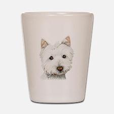 Westie Dog Shot Glass