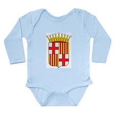 Barcelona Coat Of Arms Long Sleeve Infant Bodysuit