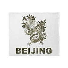 Vintage Dragon Beijing Throw Blanket