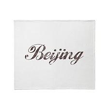 Vintage Beijing Throw Blanket
