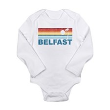 Retro Palm Tree Belfast Long Sleeve Infant Bodysui
