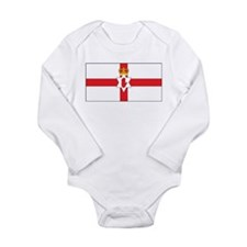 Northern Ireland Flag Long Sleeve Infant Bodysuit
