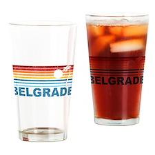 Retro Palm Tree Belgrade Pint Glass
