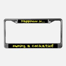 HI Owning Cockatiel License Plate Frame