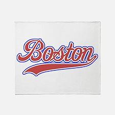 Retro Boston Throw Blanket