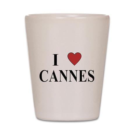 I Love Cannes Shot Glass