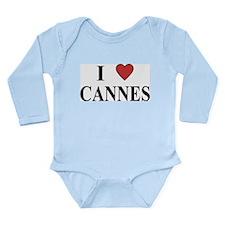 I Love Cannes Long Sleeve Infant Bodysuit