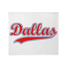 Retro Dallas Throw Blanket