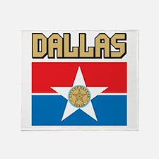 Dallas Flag Throw Blanket