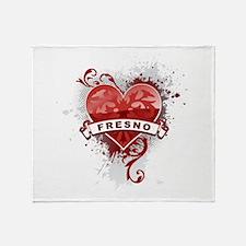 Heart Fresno Throw Blanket