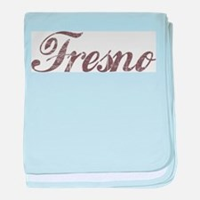 Vintage Fresno baby blanket