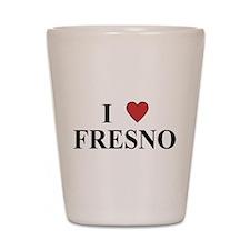I Love Fresno Shot Glass
