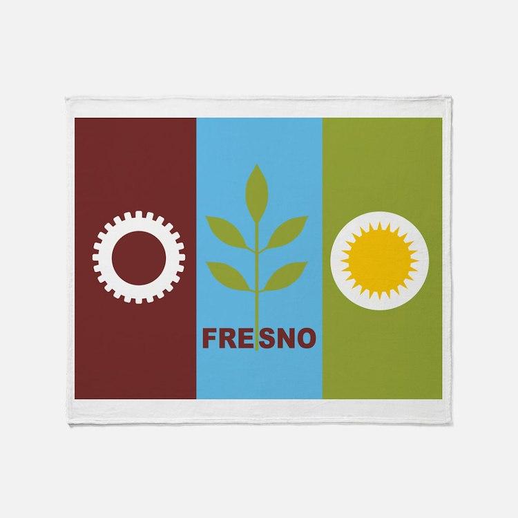 Fresno Flag Throw Blanket
