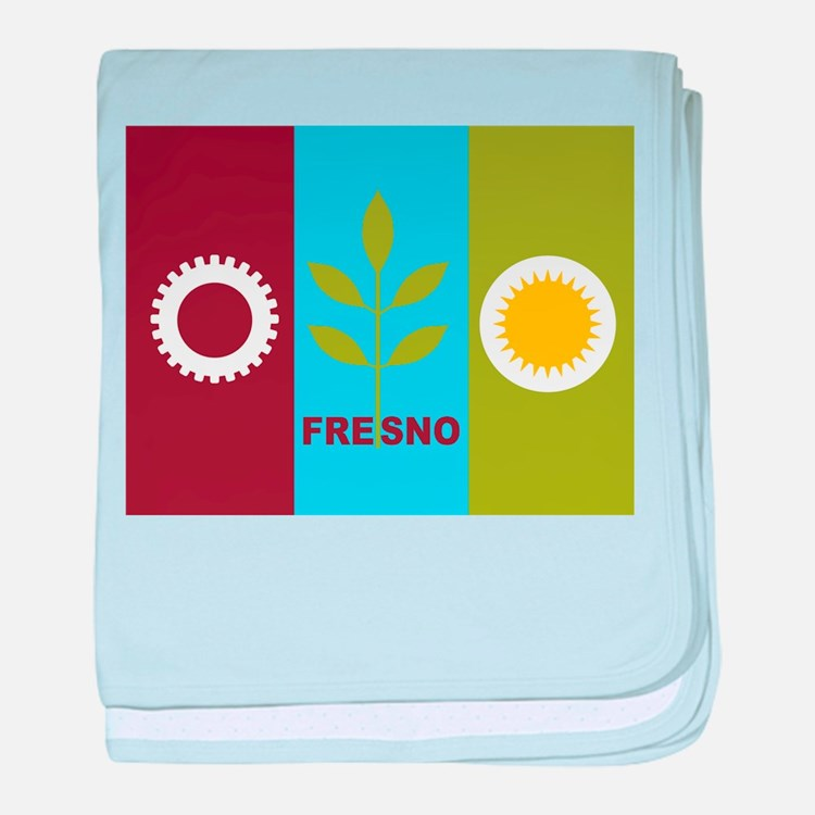 Fresno Flag baby blanket