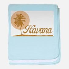 Palm Tree Havana baby blanket