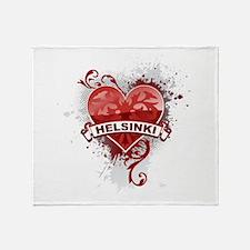 Heart Helsinki Throw Blanket