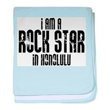 Rock Star In Honolulu baby blanket