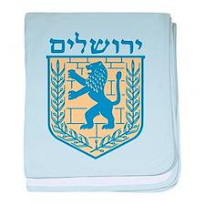 Jerusalem Emblem baby blanket