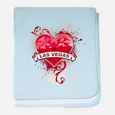Heart Las Vegas baby blanket