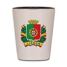 Stylish Lisbon Crest Shot Glass