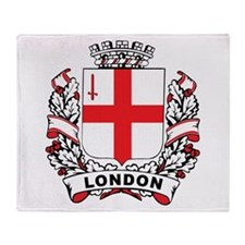 Stylish London Crest Throw Blanket