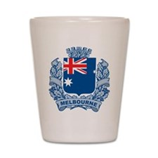Stylish Melbourne Crest Shot Glass