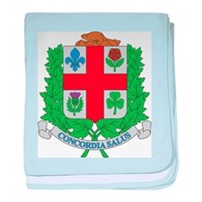 Montreal Coat Of Arms baby blanket