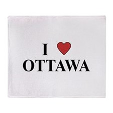 I Love Ottawa Throw Blanket