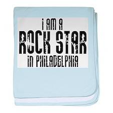 Rock Star In Philadelphia baby blanket