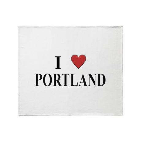 I Love Portland Throw Blanket