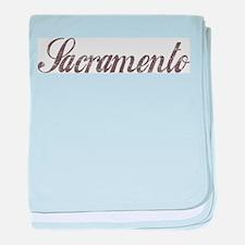 Vintage Sacramento baby blanket