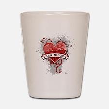 Heart San Diego Shot Glass