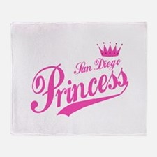 San Diego Princess Throw Blanket