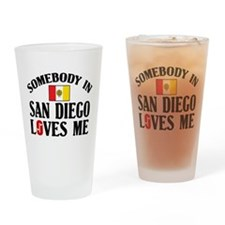 Somebody In San Diego Pint Glass