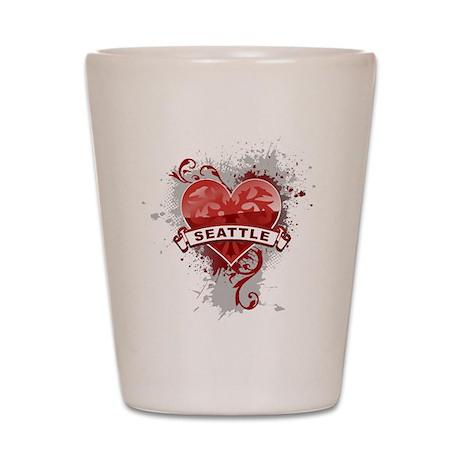 Heart Seattle Shot Glass